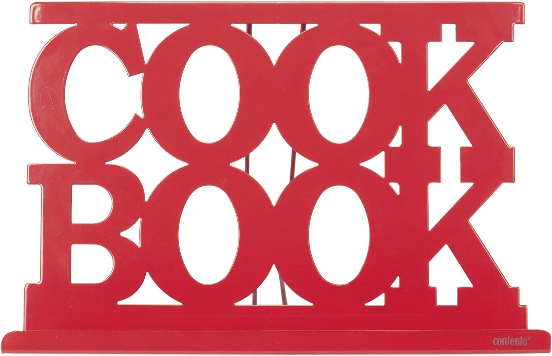 Contento 672141 George Support Livre//Tablette Plastique Rouge 29,5 x 20 x 6 cm