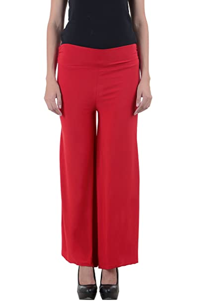 c313e93bdfe NumBrave Women s Outstanding Red Palazzo  Amazon.in  Clothing   Accessories