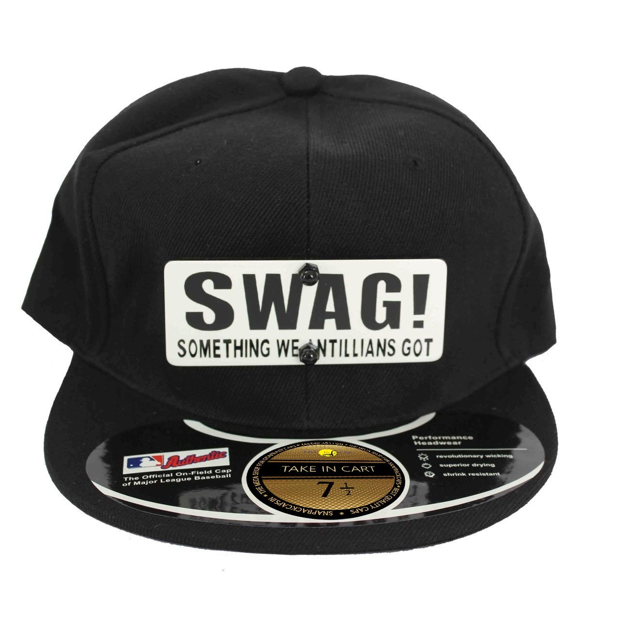 3fed9cb0ab29f Takeincart Black Swag Snapback Cap  Amazon.in  Clothing   Accessories