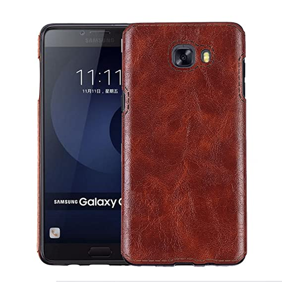 Excelsior Premium PU Leather Back Cover case for Samsung Galaxy C9 Pro   Coffee Mobile Accessories