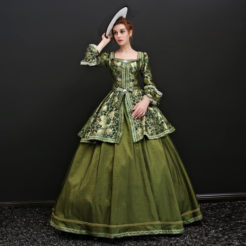 Zukzi Women's Floor Length Victorian Dress Costume Masquerade Ball Gowns, X7932, Customized by Zukzi (Image #4)