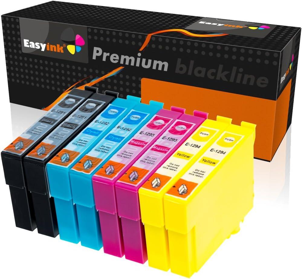 easyink – Juego de 4 cartuchos de tinta para impresora EPSON T1291 ...