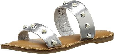 Mindy Two-Band Pearl Slide Sandal