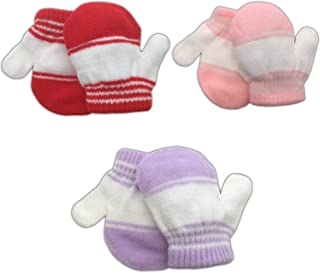 3 Pack Infant Baby Boys Mittens Warm Knitted for Winter