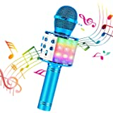 ShinePick Bluetooth Karaoke Microphone, 4 in 1 Wireless Microphone Handheld Portable Karaoke Machine, Home KTV Player…