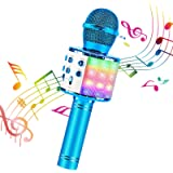 BlueFire 4 in 1 Karaoke Bluetooth Handheld Wireless Microphone Portable Speaker Machine Home KTV Player with Record…