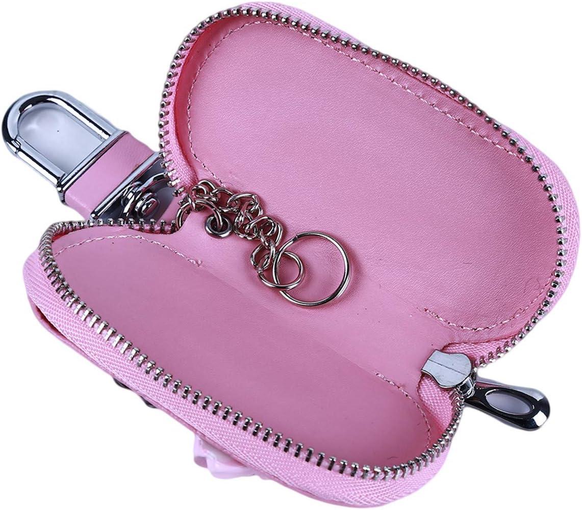EJY Creative Zipper Porte-cl/és Portefeuille Cl/és Cas Sac Porte-Monnaie Femmes Cadeau Gourd Rose