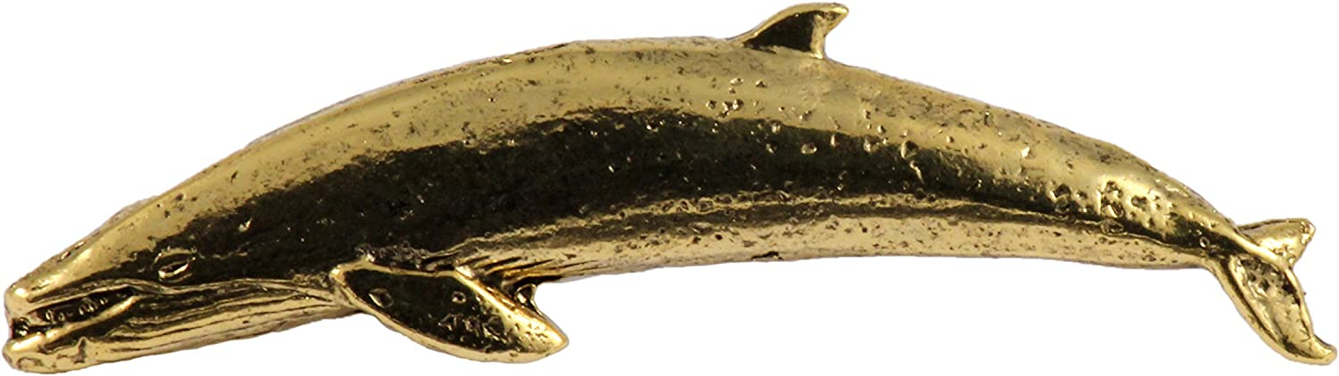 Dolphin Copper /& 22k Gold Plated /& Hand Painted Sea Cow Mammal Lapel Brooch Pin Handmade in The USA Whale Creative Pewter Designs Available in Pewter