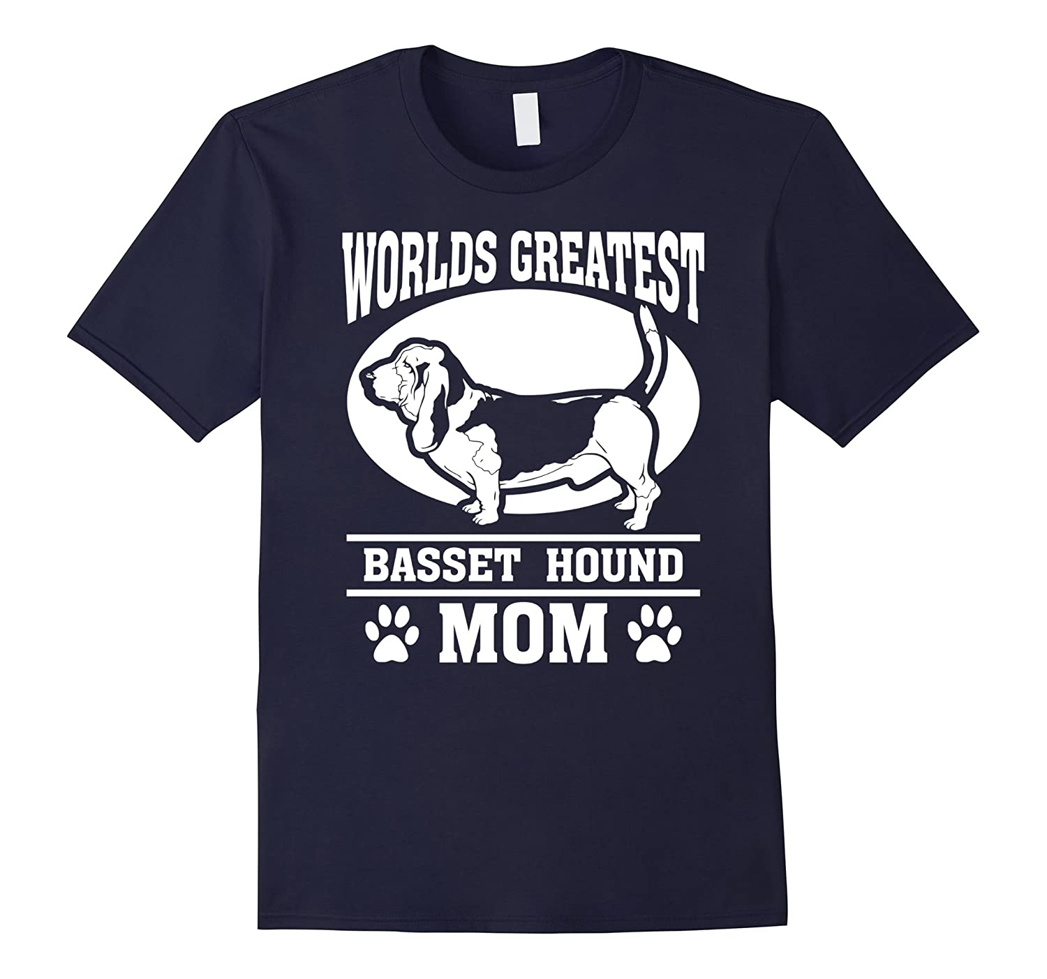 Worlds Greatest Basset Hound Dog Mom T-shirt-CL