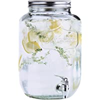Estilo EST2784 Glass Single Mason Jar Beverage Drink Dispenser