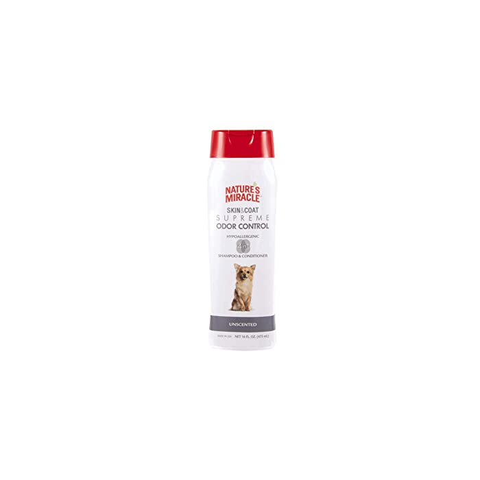 The Best Nature's Miracle Odor Control Shed Control Dog Shampoo