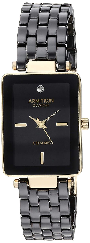 Armitron Women s 75 5613 Diamond-Accented Ceramic Bracelet Watch