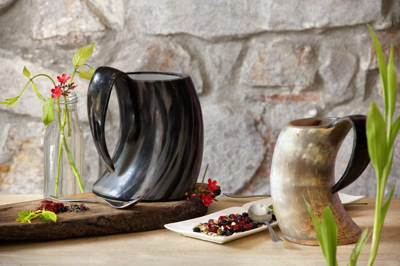 Gifts for Boyfriend Birthday Mugs – Viking Tankard Drinking Horn Beer Stein 20 Oz Goblet Unique Present for Him…