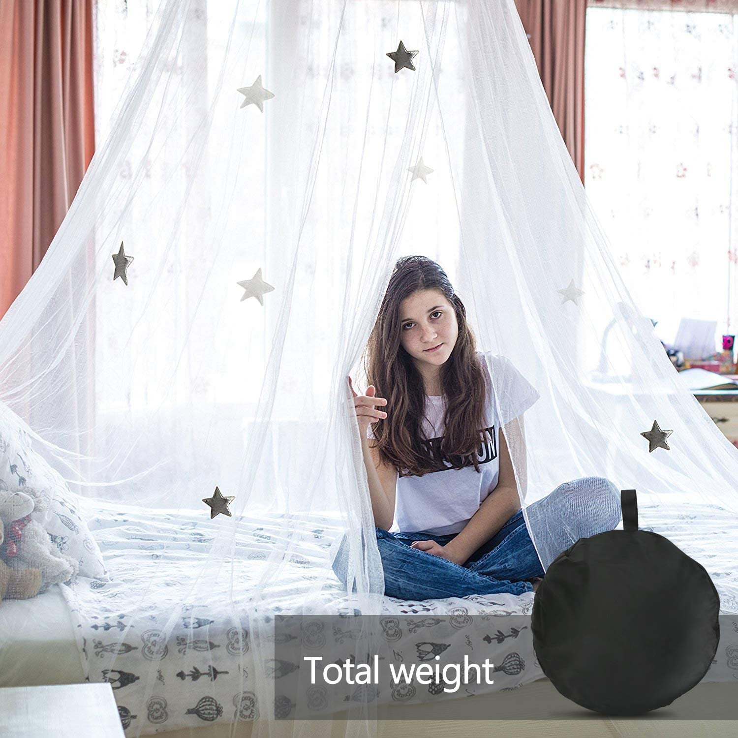 Mosquito Net Bed Insect Net Bed Canopy with Fine Mesh and Adhesive Hook Travel Bag 60 x 260 x 1100 cm Extra Large for Double and Single Bed AimTop Mosquito Net for Travel and Home