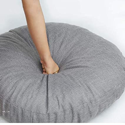 Amazon.com: WJT@YX Round Cotton Linen Fabric Seat Cushion ...