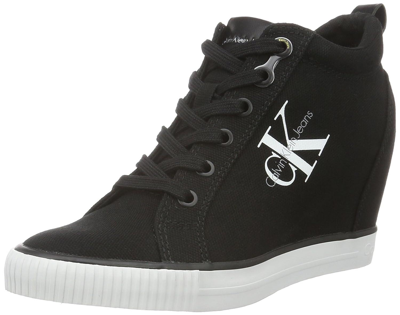 Calvin Klein Jeans Ritzy Canvas, Zapatillas Altas para Mujer 40 EU|Negro (Black)