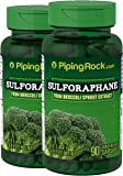 Piping Rock Sulforaphane From Broccoli Sprout Extract 2 Bottles x 90 Capsules Dietary Supplement