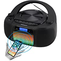 $44 » Magnavox MD6972 CD Boombox with Digital AM FM Radio Color Changing Lights and Bluetooth…