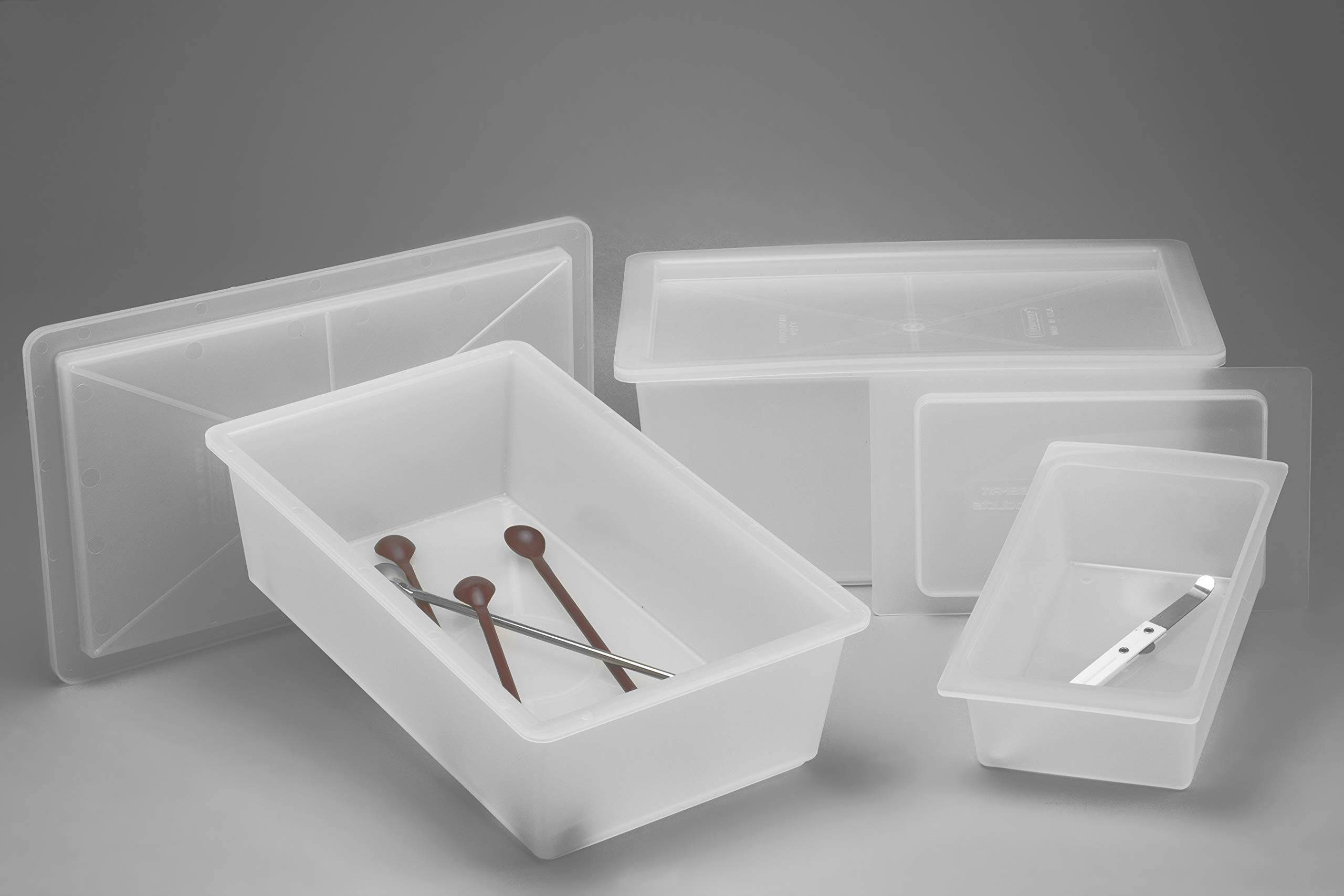 Polypropylene Instrument Tray with Cover, 11 x 6 x 5 in. by SP Scienceware