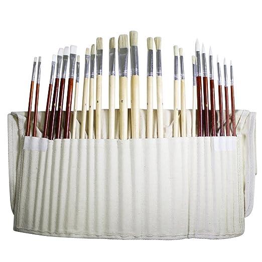 47 opinioni per Set da 24 Pennelli Belle Arti da Kurtzy – Set Pennelli per Dipingere in Custodia