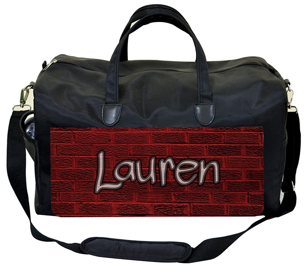 Graffiti Brick Wall Print Personalization Custom Weekender//Overnighter Bag