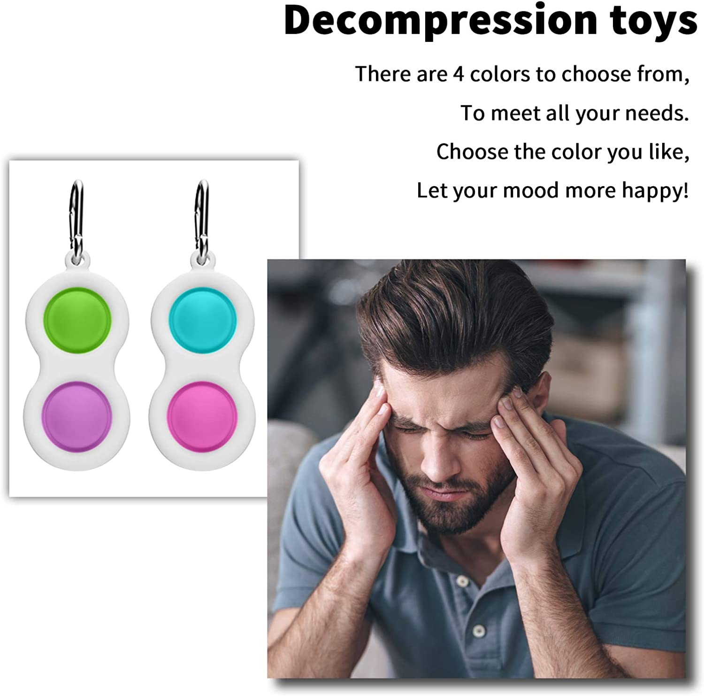 Teens 2 Pcs Toddler Adult CNSSKJ Simple Dimple Fidget Toy,Baby Sensory Fidget Toys,Office /& Desk Push Pop Bubble Sensory Toys Fidget Toys for Autistic Children
