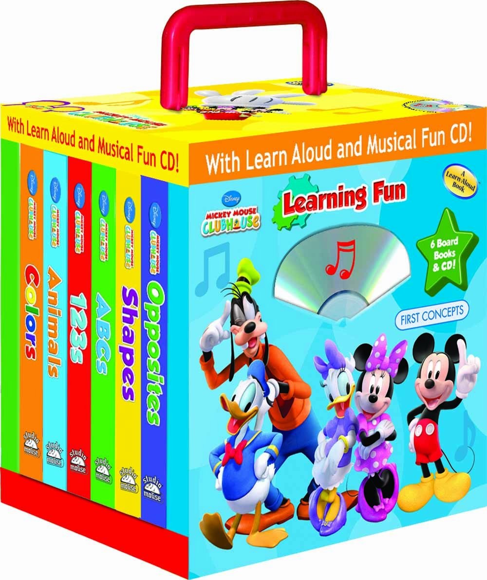 Disney Mickey Mouse Clubhouse Learning Fun 6- books Travel Pack (with audio CD and carrying case) ebook