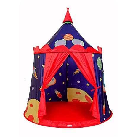 Children Portable Indian Castle Play Tent Indoor Outdoor Playhouse Toy Camping Traveling Foldable Sports Waterproof Playhouses Terrific Value Playhouses