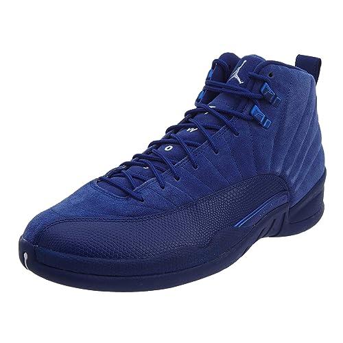 9816d118a9f4c0 Mens 12 XII Retro Premium AJ12 Basketball Shoes Deep Royal Blue 130690-400  Suede 9