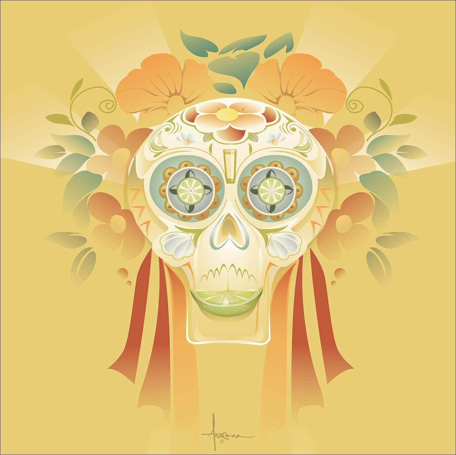 Amazing Day Of The Dead Wall Decor Ensign - The Wall Art Decorations ...
