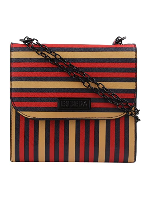 ESBEDA Multicolor Striped PU Synthetic Slin gbag For Womens Women's Cross body Bags