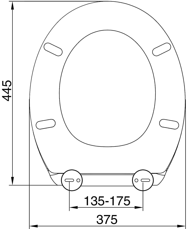 Black FINE Glitter Toilet Seat ONE Button Release Soft Close Top//Bottom Fix