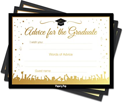Amazon 2018 graduation advice cards for the graduate 30 count 2018 graduation advice cards for the graduate 30 count high school or college filmwisefo