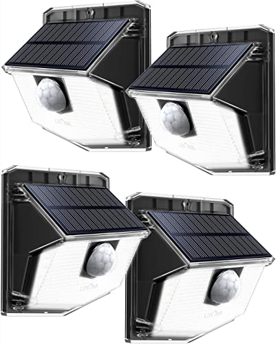 CINOTON LED Flood Light Motion Sensor Light Outdoor, Adjustable Dual-Head Dusk to Dawn Security Light, IP65 Waterproof, 3000 Lumens, 5000K, Upgrade Double Motion Sensor, 36W 250W Equivalent