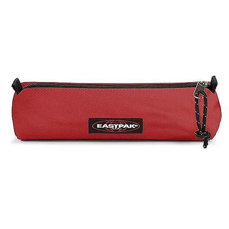 Eastpak - Estuche cilíndrico con cremallera, color rojo vivo, ideal para la escuela