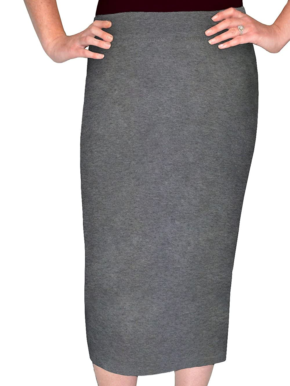 562588078d8 Midi pencil skirt with a close fit that tapers in at the hem. Fashionable  retro length