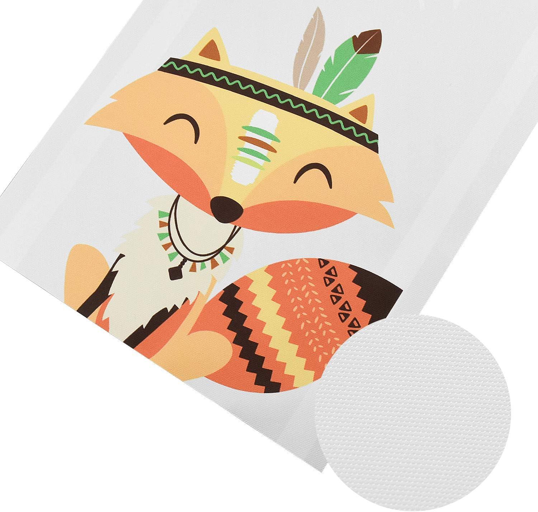 Inntek 3pcs Cuadro Dormitorio Ni/ños Decoraci/ón de Pared Infantil 21 * 30CM 3 Patrones Animales Decoraci/ón Infantil de Hogar Dormitorio Cuadro de Animales Pintura de Lienzo