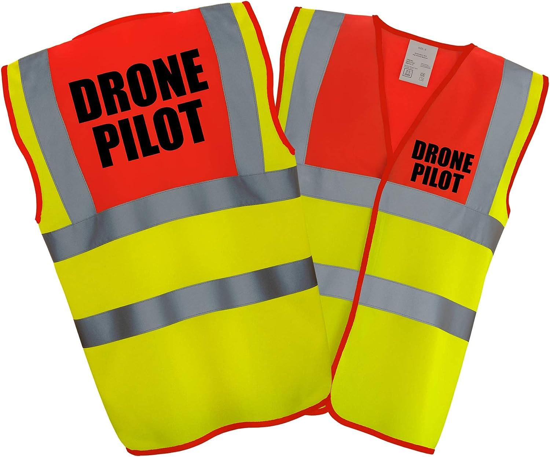 DRONE PILOT PREMIUM DUAL COLOUR Hi Vis Hi Viz High Visibility Reflective Safety Vest//Waistcoat
