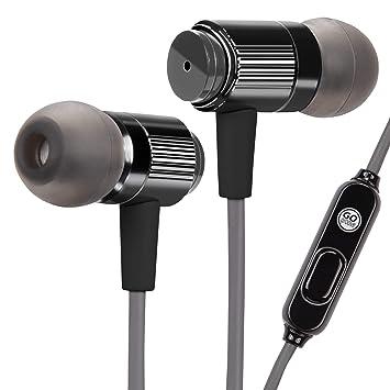 Auriculares Intrauriculares aislantes de Ruido GOGroove| Cascos para Fitness Deporte con Cable Reforzado y Micrófono