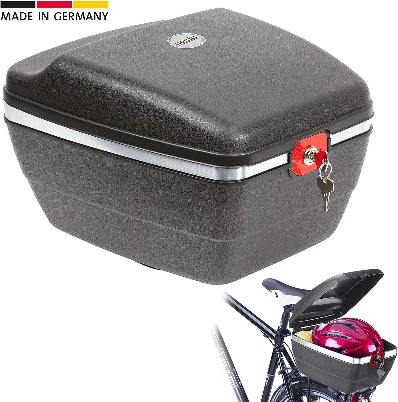 Westmark Fahrradkoffer für alle Gepäckträger, Diebstahlsicher, 14 Liter, Touring Tresor, 5430GE6S