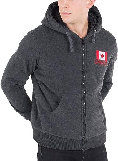Canada Weather Gear Men/'s Full Zip Fleece Hoodie