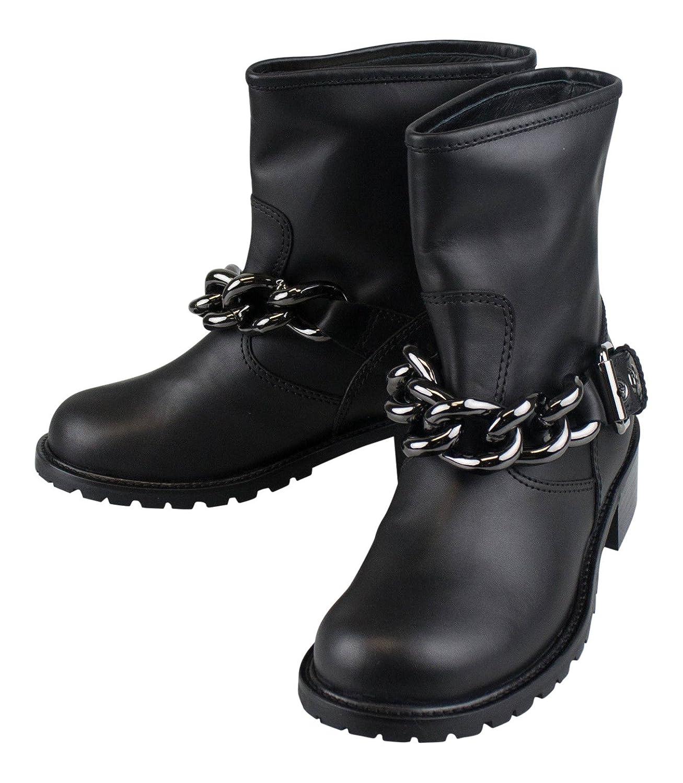 Giuseppe Zanotti Blok Tuboブラックレザーブーツ靴サイズ6 US 36 EU   B0731N3CJG