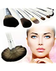 Ancheer 12 Pcs Professional Cosmetics Makeup Brush Set with Synthetic Leather Case
