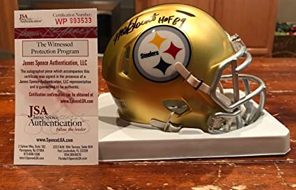 2001b0157 Amazon.com  Mel Blount Autographed Signed Pittsburgh Steelers Blaze ...