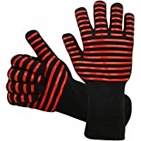 BBQ Gloves 1472℉ Extreme Heat Resistant Grill Gloves, Food Grade Kitchen Oven Mitts, Silicone Non-Slip Cooking Gloves…