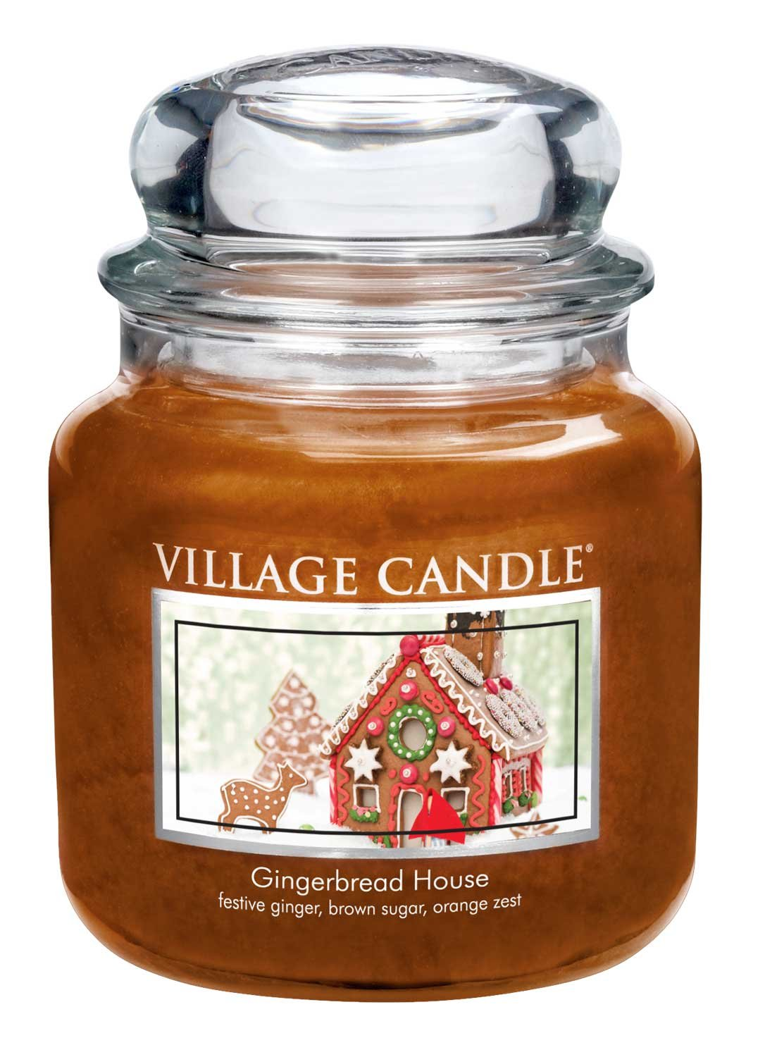 Village Candle Gingerbread House 11 oz Glass Jar Scented Candle, Small 106011832