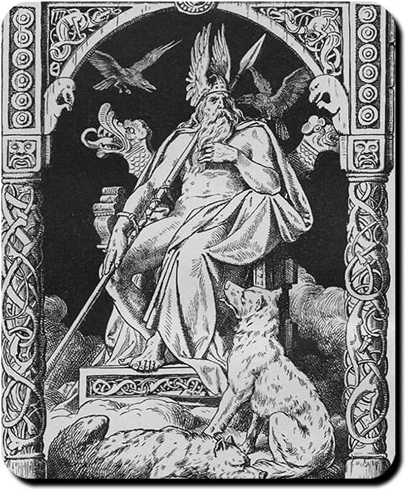 Geri and Freki Wolves Companion Odins Huginn Muninn Greedy vorigious Mouse Pad//Mousepad