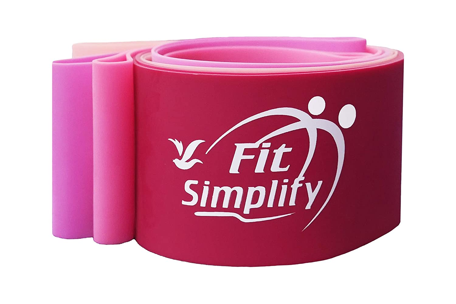 Resistance Exercise Bands Carry Bag Set of 4 Booty Bands with Instruction Guide Fit Simplify Resistance Loop Bands Pink Series Ebook and Online Workout Videos