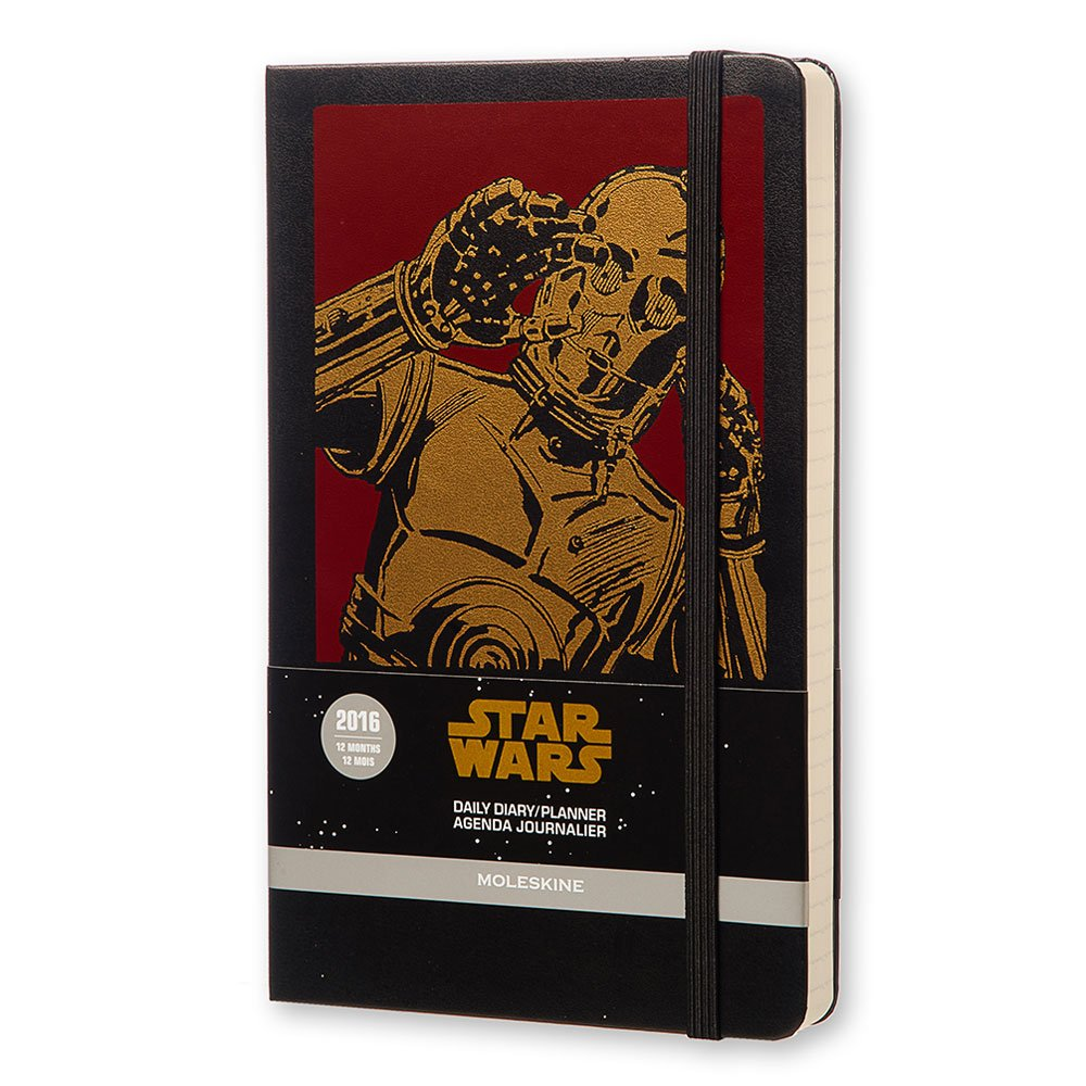 Moleskine Star Wars - Agenda diaria 2016, 12 meses, tamaño grande, color negro