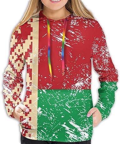 Amazon.com: Merahans Retro Belarus Flag Women's Fashion Hoodies 3D Print  Hooded Sweatshirt: Clothing